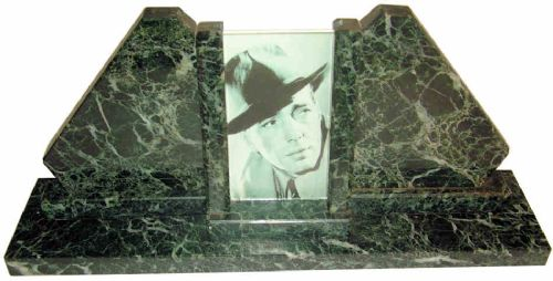 art deco modernist french marble picture frame