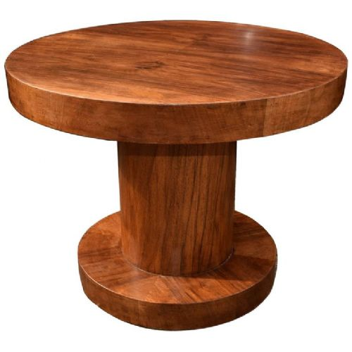 english art deco walnut occasional table
