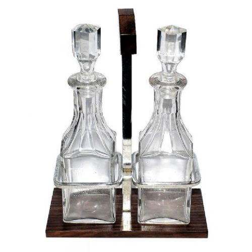 art deco french condiment set by jacque adnet circa 1930