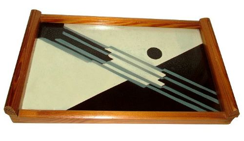rare 1930's geometric drinks tray