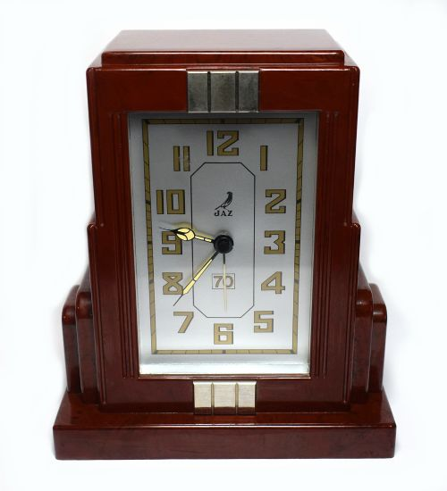 french art deco bakelite clock by jaz