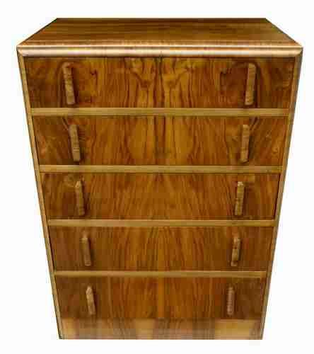 art deco chest of five drawers circa 1930