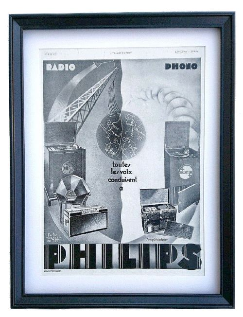 original french print advert for radiograms circa 1931