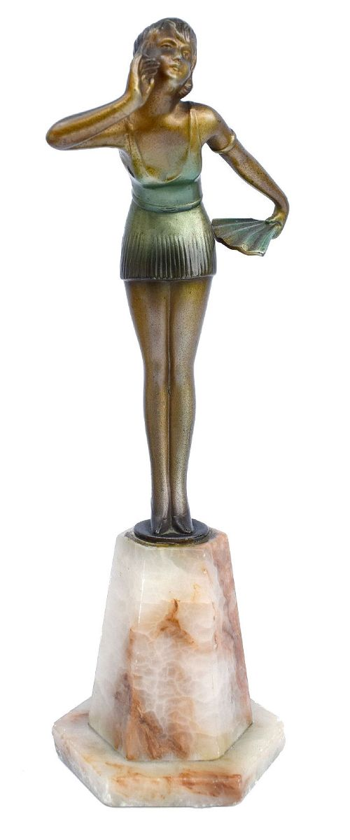art deco cold painted spelter figure c1930