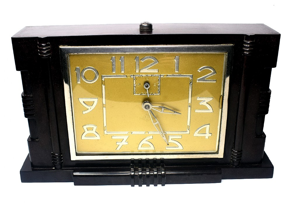 french art deco clock by japy