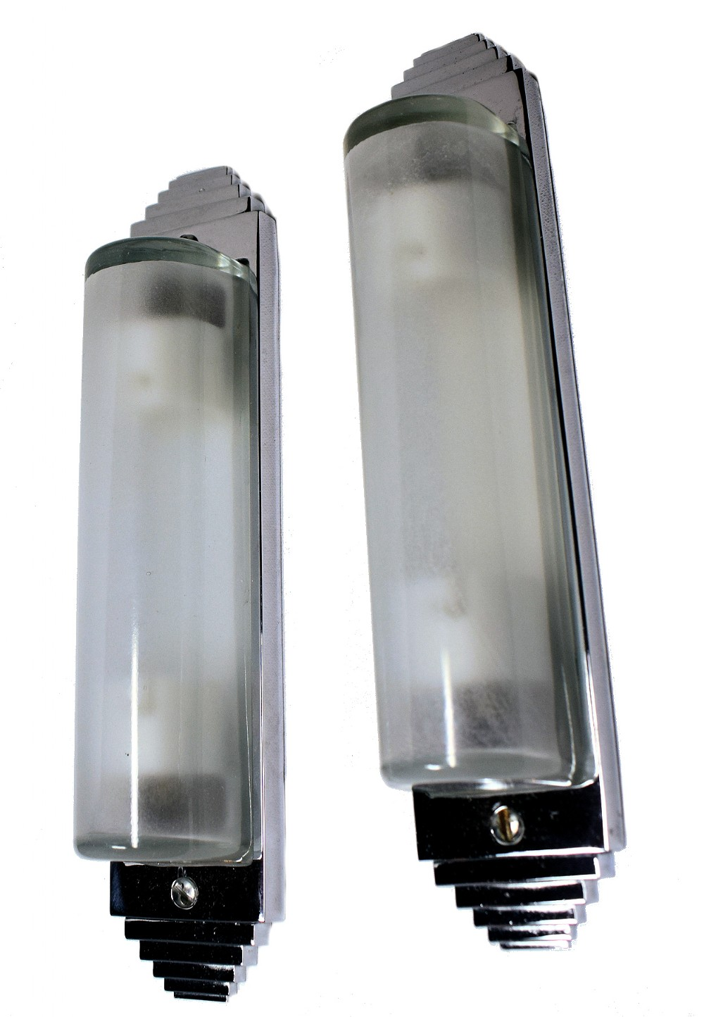 pair of 1930's art deco tubular wall lights