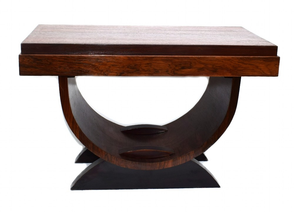 art deco u base occasional table