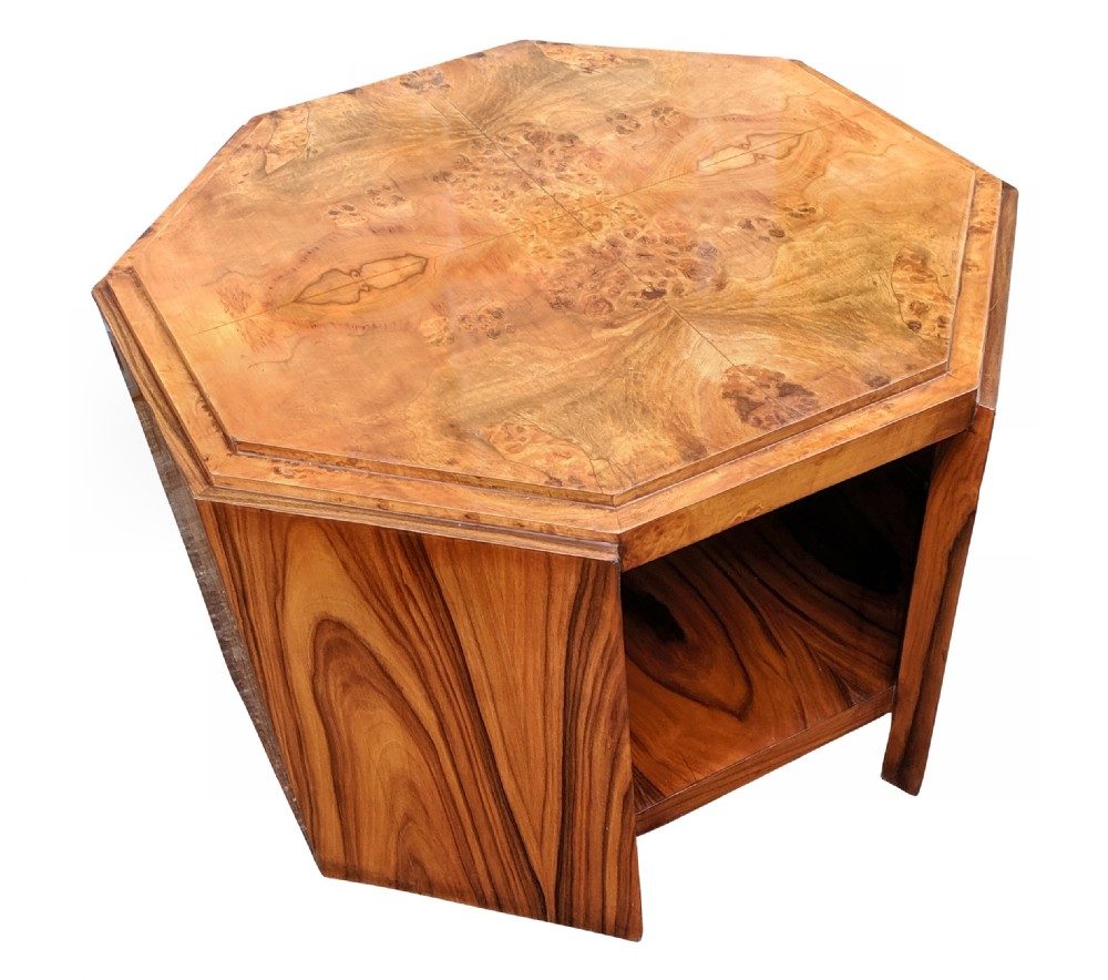 large art deco maple occasional table circa 1930