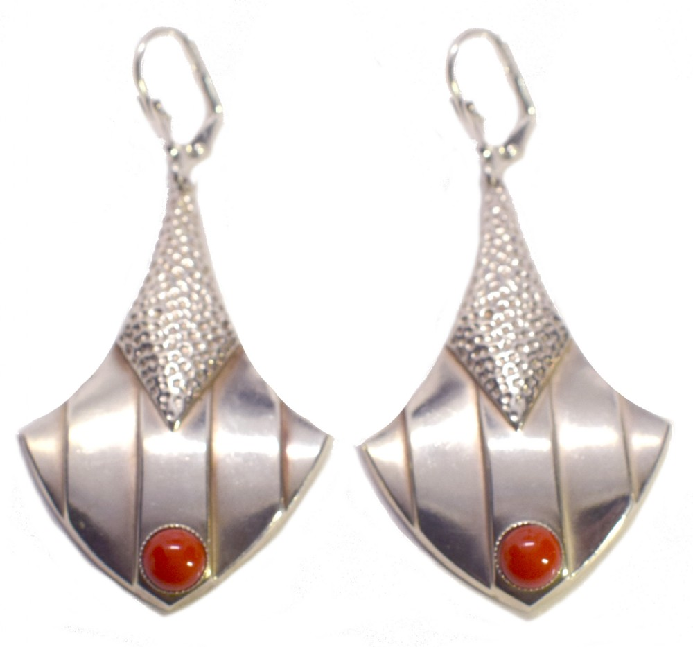 art deco modernist drop earrings