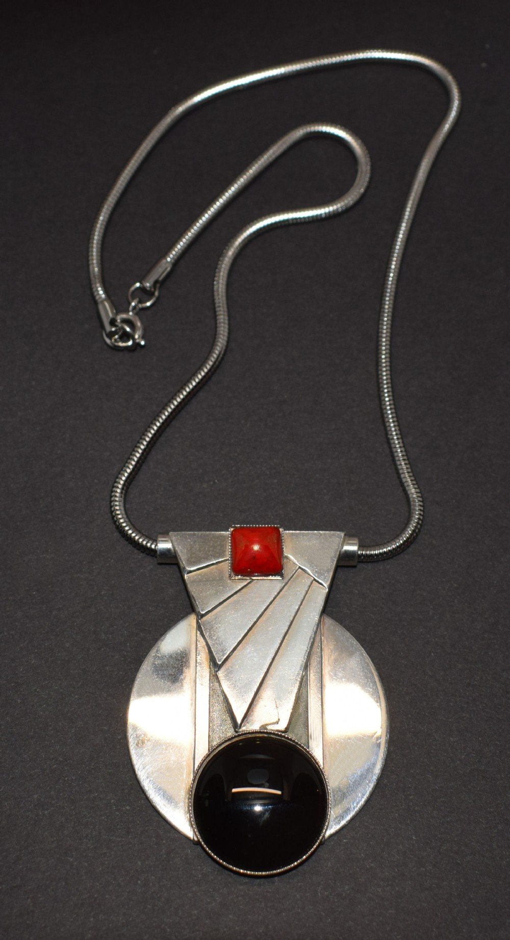 art deco geometric modernist ladies necklace