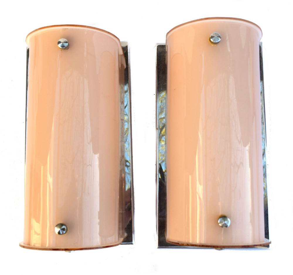 pair of large art deco 1930's wall lights