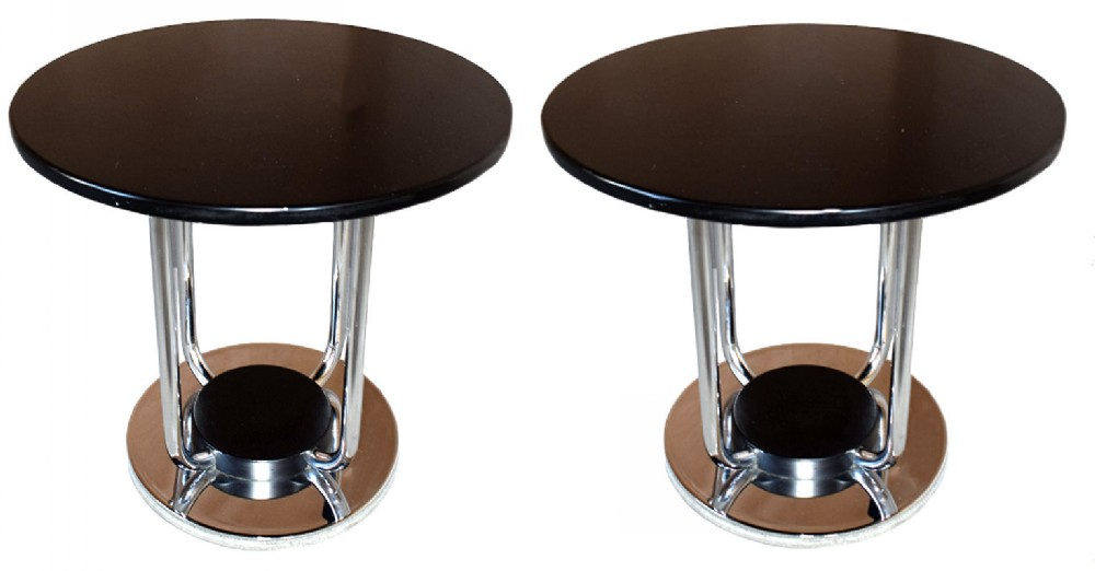 matching pair of art deco modernist tables c1935
