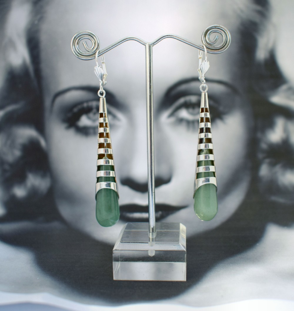 art deco minimalist ladies earrings
