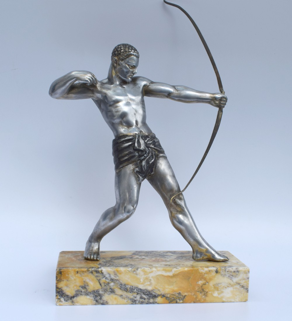 art deco male spelter archer c1930