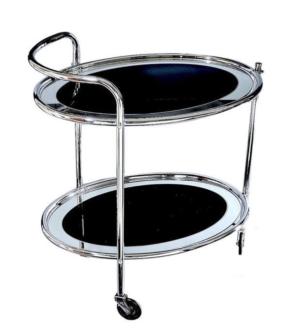 art deco chrome and mirror modernist hostess trolley c1930
